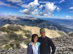 On top of Mount Princeton with Thao Tran looking north. This was Thao's first 14er :)