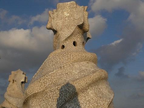Barcelona Casa Milà roof sculpture