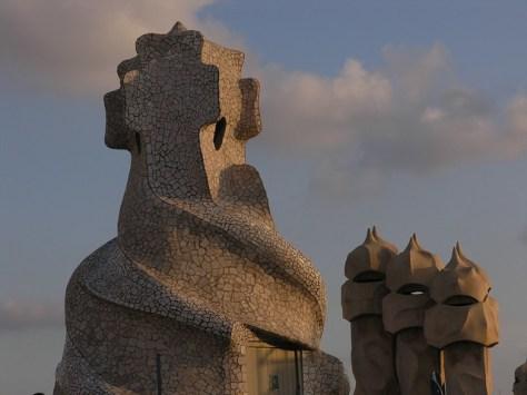 Barcelona Casa Milà roof sculpture5