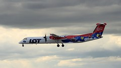LOT Polish Airlines SP-EQH Bombardier Dash 8 Q400 Katowice Airport