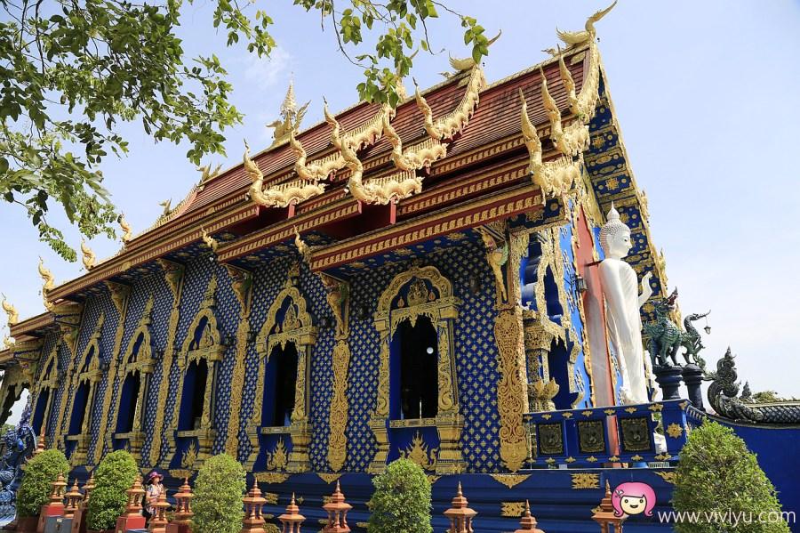 Rong Suea Ten Temple,泰國旅遊,泰國景點,清萊景點,清萊藍廟 @VIVIYU小世界