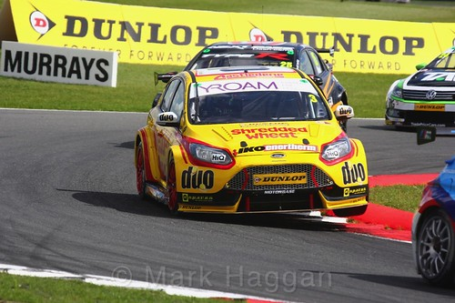 Mat Jackson in BTCC action at Snetterton, July 2017