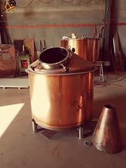946 litre Still for Crafts Works Distillery under construction.