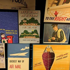 Posters at the Postal Museum