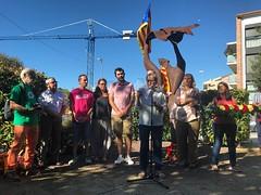 Lectura del manifest conjunt lamentant la decisió de l'alcaldessa de #Tiana de noncedir els locals municipals per l'#1O #Diada2017