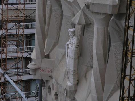 Barcelona Sagrada Familia s facade detail