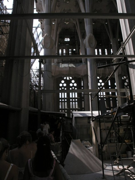 Barcelona Sagrada Familia under construction