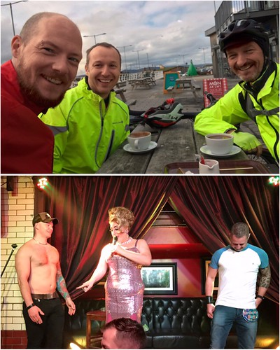 Today is all about...starting the day with a bike ride and ending it getting drunk as a skunk for Carl's birthday