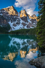Lake reflecting the mountain