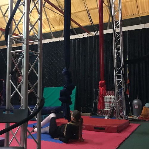 Today is all about...trying out a trapeze class