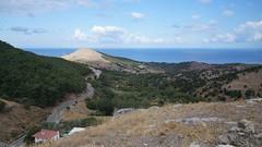 Vedere spre nord din cetatea Chora