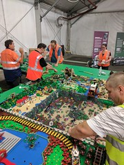 Brisbricks train layout, Brisbane Model Train Show, May 2017