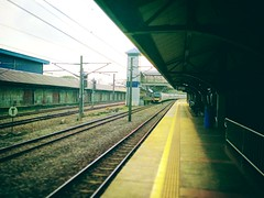 KTM Line - Klang Station (KD14) - Jalan Raya Timur - http://4sq.com/cTLxbq #Travel #holiday #trainstation #railwaystation #度假 #旅行 #火车站 #亚洲 #马来西亚 #asia #malaysia #Klang #巴生