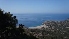 Vedere spre plaja Pachia Ammos