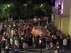 Donem forma a la LLIBERTAT amb la llum@de les espelmes. #Tiana per la #democràcia i la #llibertat #LlibertatJordis