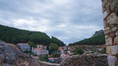 Satul Chora vazut din cetate