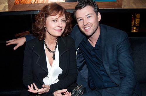 A atriz Susan Sarandon, 67, e o atual namorado, Jonathan Bricklin, de 37 anos