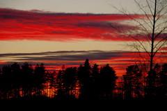 Sunset at half past four