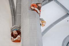 Görlitz: Gewölbekonsolen in der Liebfrauenkirche - Corbels in the shape of heads in the choir of the Church of Our Lady