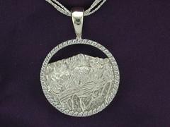 Rockies Collection Continuum Silver .48cttw Diamond Pikes Peak Pendant
