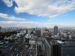 阿倍野HARUKAS から大阪市を見る