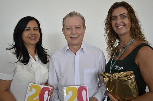 Áurea Alves Asdrúbal de Sousa, José Maria Facundes e Roberta Cabral - Foto Emmanuel Franco
