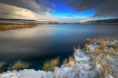 A chilly Withens Clough Reservoir