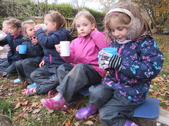 Hot Chocolate at Forest School