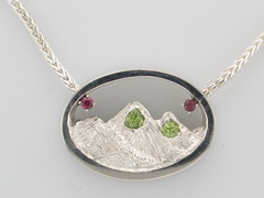 Custom Rockies Collection Ruby & Peridot Necklace