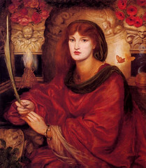 "Dante Gabriel Rossetti ""Sibylla Palmifera"" c.1865-70"