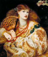 """Dante Gabriel Rossetti """"Monna Vanna"""" 1866 (modified)"""