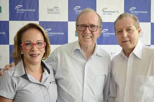 Elaine Teixeira, Jeans Erik Hansen e José Maria Facundes - Foto Emmanuel Franco