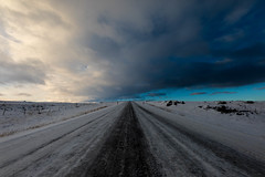 Some roads ends in the Heaven in Iceland