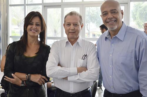 Dra. Eliana Lima Cunha de Freitas, José Maria Facundes e Julio Cesar Vitor - Foto Emmanuel Franco