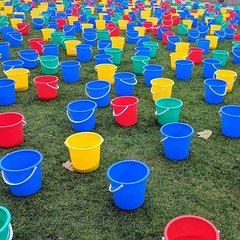 Something colourful on Potters Fields today