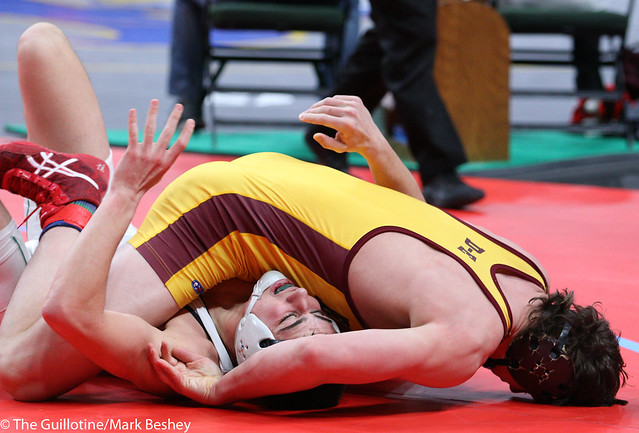 182A 3rd Place Match - Michael Nelson (Dover-Eyota) 37-6 won by major decision over Garrett Ploeger (Pipestone Area) 37-9 (MD 16-6) - 180303bmk0121