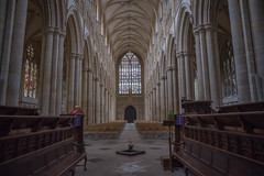 Beverley minster. Scenes from the television series Victoria were filmed here.