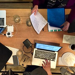 Today's Hoffice was joined by five freelancers in web, UX, marketing, and photography