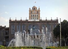Saat tower, the Tabriz Municipal palace, Iran