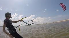 erstes Kitetraining in Sri Lanka