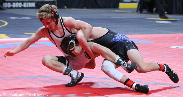 132A 3rd Place Match - Tyler Bents (Belgrade-Brooten-Elrosa) 46-8 won by decision over Nate Hart (Ottertail Central Bulldogs) 47-3 (Dec 5-2) - 180303bmk0048