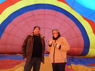 warming up inside a balloon, KwaZulu-Natal