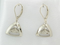 The Rockies 14KT White Gold & .06cttw Diamond Earrings