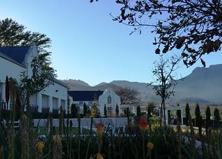 from the Coach House toward the manor house, Val du Charron, Western Cape