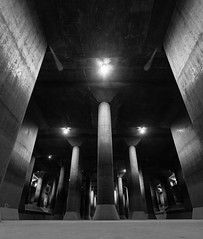 Pillars and cavern
