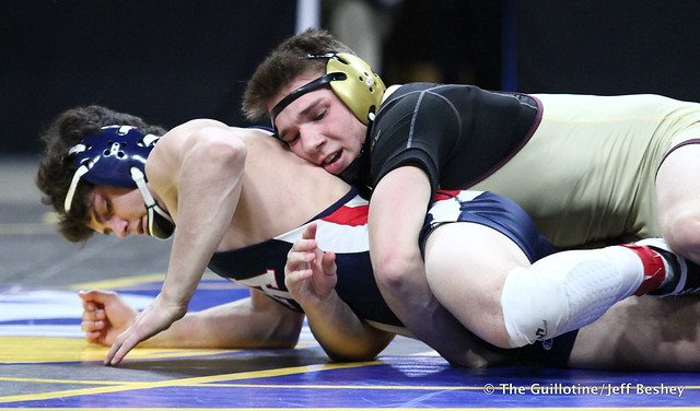 3rd Place Match - Brody Nielsen (Albert Lea Area) 45-7 won by decision over Willie Bastyr (Lakeville South) 33-7 (Dec 8-7). 180303BJF0233