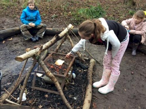 Getting Muddy at Forest School