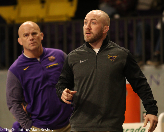 MSU Mankato coaches Jim Makovsky and Ty Eustice - 180203amk0010