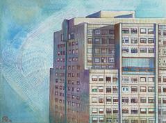Torre, acquerello, 2017