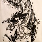 Done with Japanese brush pens. Ready to go. Aaaaaaand relax! Time for a few bevvys 🍻 #japanese #dragon #art